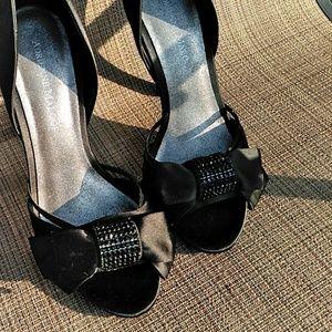 Adrienne Maloof black satin size 8.5